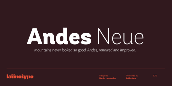 d8042c9ea8726b096df949ce6f747d7a 580x290 - Andes Neue (78% discount, family 41,16€)
